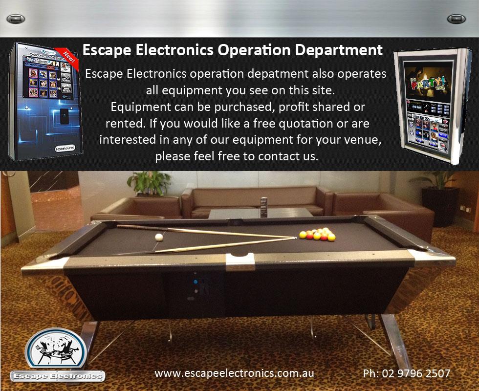 Escape electronics operations